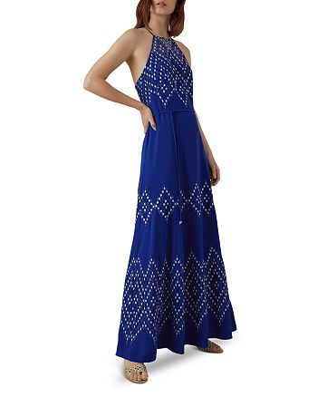 KAREN MILLEN - Lace-Inset Maxi Dress