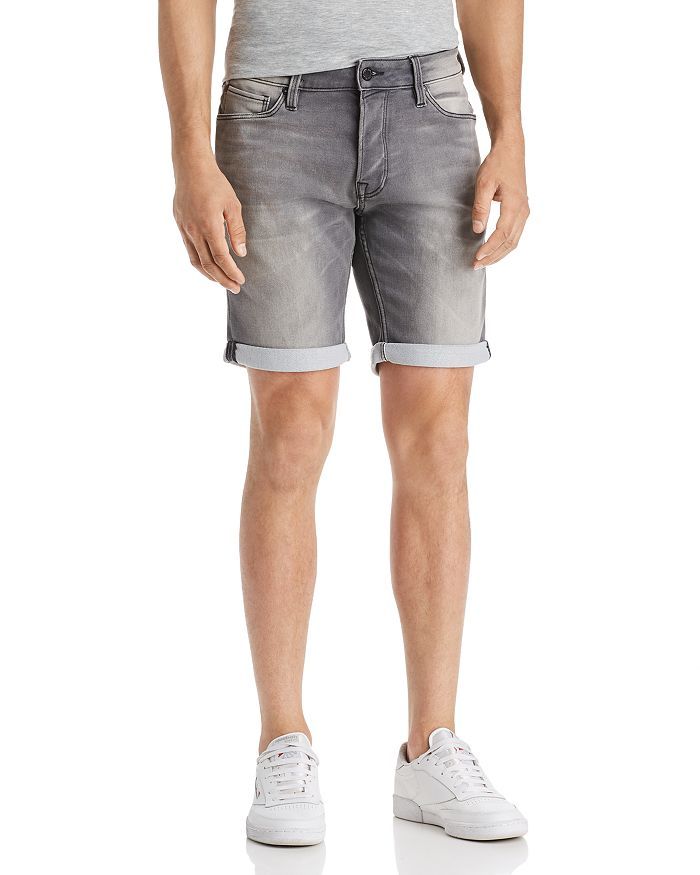 JACK + JONES - Icon Regular Fit Denim Shorts in Gray