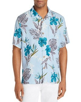 Tommy Bahama - Rialto Short-Sleeve Floral-Print Classic Fit Silk Camp Shirt