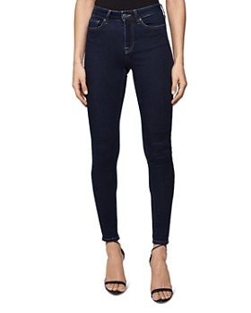 REISS - Lux Mid-Rise Skinny Jeans in Mid Blue