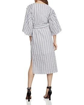 e92b00f41 ... BCBGMAXAZRIA - Striped Robe Faux-Wrap Dress