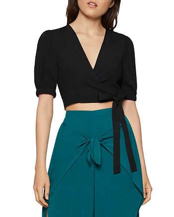 BCBGENERATION - Puff-Sleeve Wrap Top