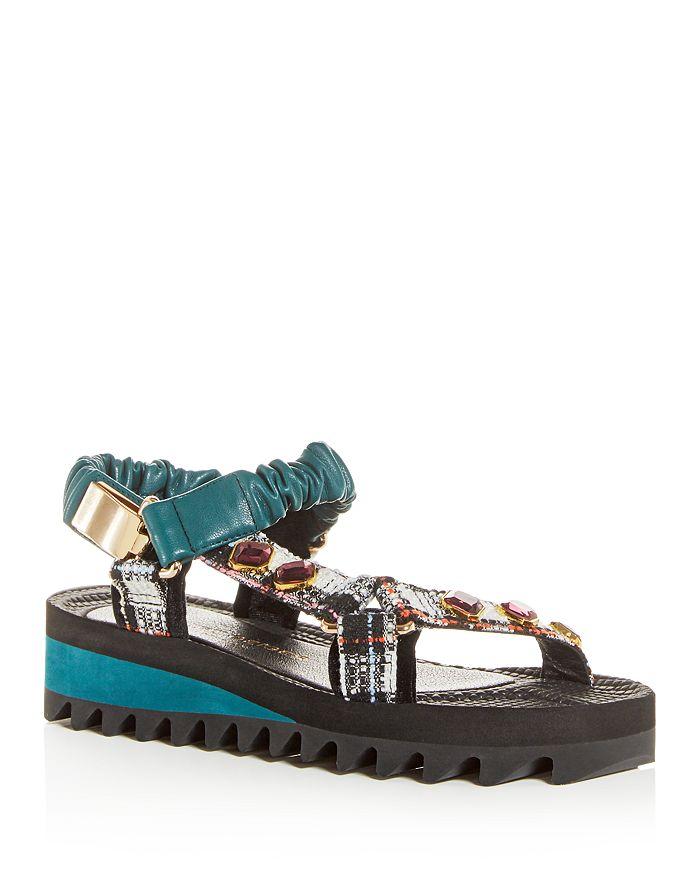 Kurt Geiger - Women's Orion Mixed-Media Platform Sandals