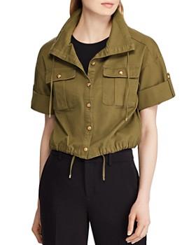 0b86e9d0073 Ralph Lauren - Short-Sleeve Cropped Jacket ...