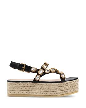 1c9e80c9d45 ... Gucci - Women s Pepita Crystal Espadrille Platform Sandals