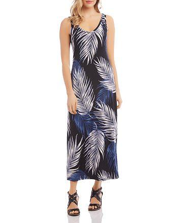Karen Kane - Alana Sleeveless Palm-Print Dress