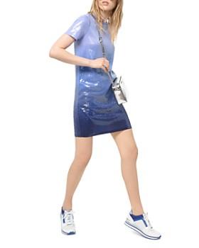 MICHAEL Michael Kors - Sequined Ombré T-Shirt Dress