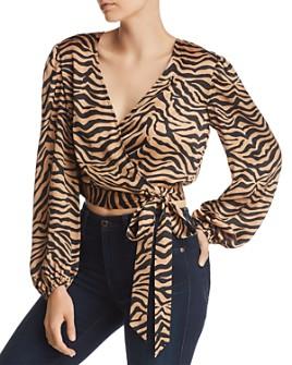 Bardot - Elena Zebra Print Wrap Top - 100% Exclusive