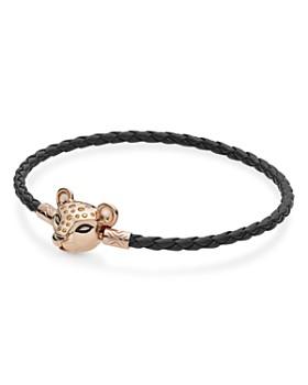 Pandora - Rose Gold Tone-Plated Sterling Silver Sparkling Lion Princess Bracelet