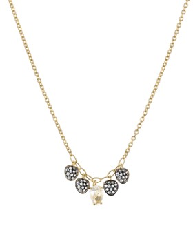 """Nadri - Sirena Multiple Pavé Disc Pendant Necklace in 18K Gold-Plated & Ruthenium-Plated Sterling Silver, 16"""""""