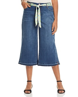 Seven7 Jeans Plus - Belted Culotte Jeans in Zen Wash