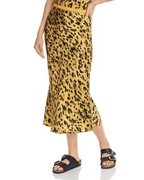 Anine Bing - Bar Animal-Printed Silk Skirt