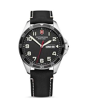 Victorinox Swiss Army - Field Force Black Leather Strap Watch, 42mm