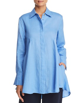 Donna Karan - Flared-Hem Tunic Top