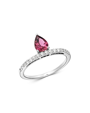 Bloomingdale's Pink Tourmaline & Diamond Ring in 14K White Gold - 100% Exclusive