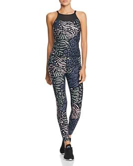 Calvin Klein - Animal-Print Jumpsuit