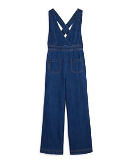 bebe - Girls' Denim Overall Jumpsuit - Big Kid