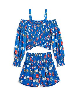 bebe - Girls' Floral Top & Shorts - Big Kid