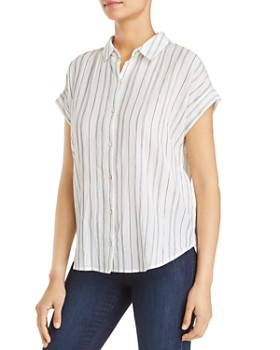 ccd97ad3eeb8cc Eileen Fisher Petites - Striped Shirt ...