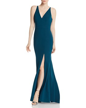 AQUA - Crepe Mermaid Gown - 100% Exclusive