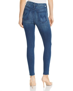 MOTHER - The Looker Frayed Cropped Skinny Jeans in 20000 Leagues Under The Sea