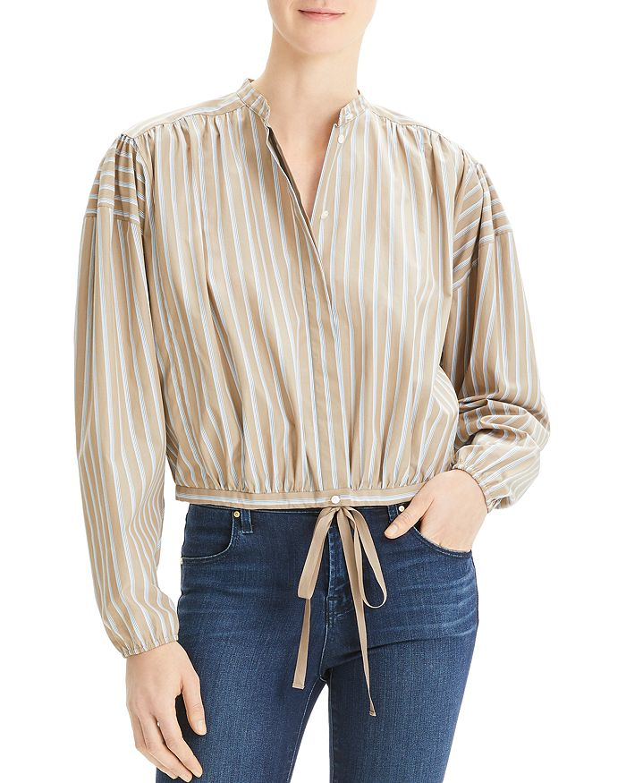 473ad4537e Theory Striped Tie-Front Top | Bloomingdale's