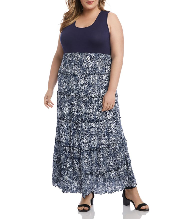 Karen Kane Plus - Topanga Tiered Maxi Dress