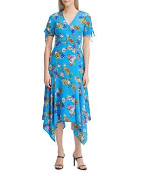 d07f468a55fa Calvin Klein - Floral Handkerchief-Hem Dress ...