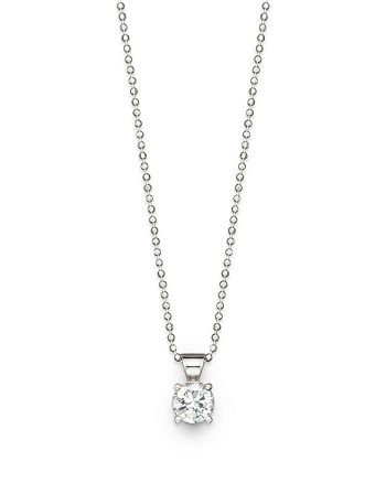 Bloomingdale's - Diamond Solitaire Pendant Necklace in 18K White Gold, 1.0 ct. t.w. - 100% Exclusive