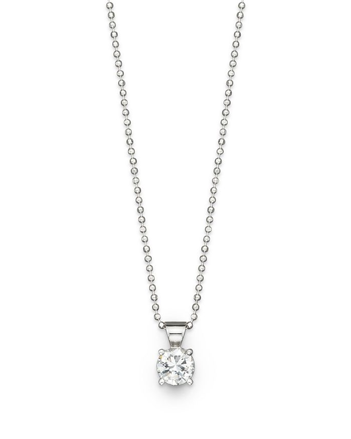 Bloomingdale's - Diamond Solitaire Pendant Necklace in 18K White Gold, 1.0 ct. t.w.- 100% Exclusive