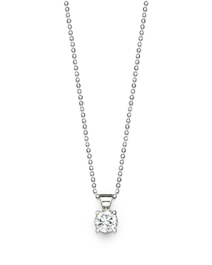 Click here for Diamond Solitaire Pendant Necklace in 18K White Go... prices