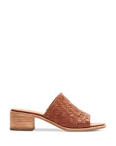 Frye - Women's Cindy Woven Leather Block Heel Sandals