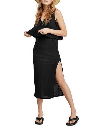 Free People - No Excuses Cropped Top & Midi Skirt Set