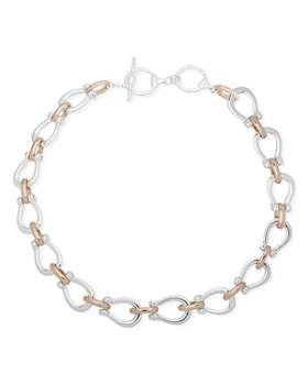 """Ralph Lauren - Two-Tone Link Collar Necklace, 17"""""""