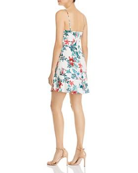 AQUA - Ruched Drawstring Floral Dress - 100% Exclusive