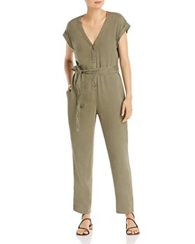 Bella Dahl - Cap-Sleeve Button-Front Jumpsuit
