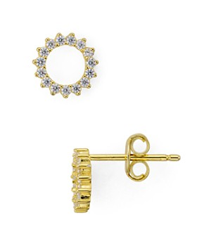 AQUA - Mini Round Circle Earrings in 18K Gold-Plated Sterling Silver or Platinum-Plated Sterling Silver - 100% Exclusive