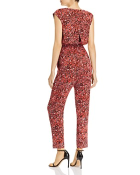 AQUA - Smocked-Waist Leopard Print Jumpsuit - 100% Exclusive