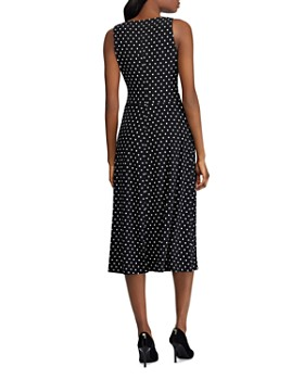 Ralph Lauren - Faux-Wrap Polka-Dot Dress