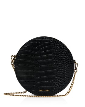 Whistles - Brixton Croc-Embossed Circle Crossbody