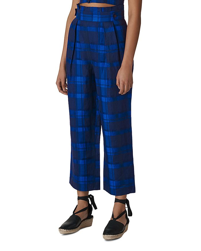Whistles - Plaid Cropped Pants