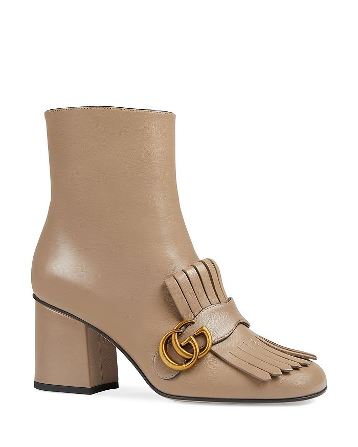 Gucci - Women's Marmont Leather Ankle Boots