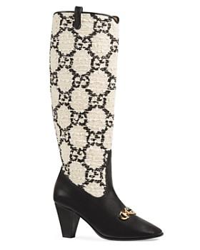 d6a34feb30d9 Gucci - Women s Zumi GG Tweed Knee Boots ...