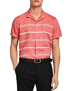 Scotch & Soda - Short-Sleeve Striped Linen Slim Fit Shirt