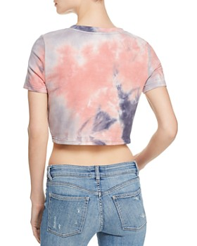 Honey Punch - Honey Punch Blessed Tie-Dye Cropped Tee