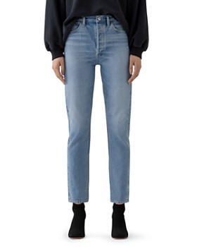AGOLDE - Remy High-Rise Straight Organic-Cotton Stretch Jeans in Collision