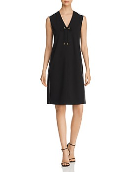 Donna Karan - Tie-Neck Dress