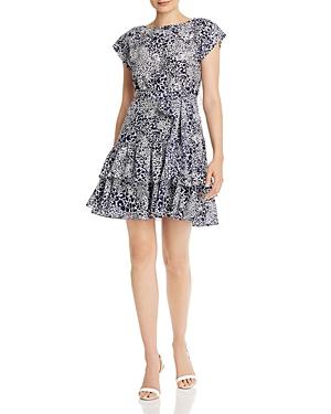 Rebecca Taylor Leopard-Print Silk Mini Dress - 100% Exclusive