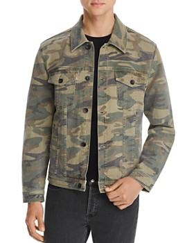 7 For All Mankind - Camouflage-Print Trucker Jacket
