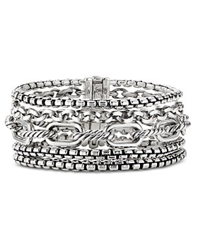 David Yurman - Sterling Silver Multi-Row Chain Bracelet